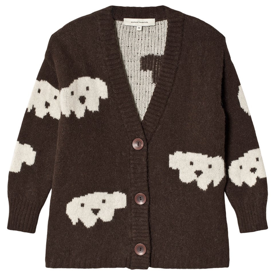 Weekend House Kids Herbert Alpaca Baby Wool Brown Herbert Alpaca cardigan by Weekend House Kids Cardigan