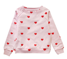 Load image into Gallery viewer, HUGO LOVES TIKI RED HEARTS SWEATSHIRT