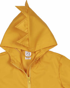 Kukukid Dino Raincoat -Yellow