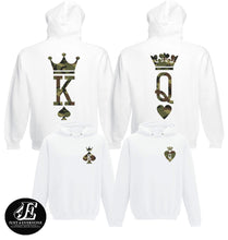 Load image into Gallery viewer, King Queen, King Queen Hoodies, Couple Hoodies, Couple Sweaters, Matching Hoodies, Pärchen Pullover