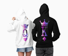 Load image into Gallery viewer, King Queen, King Queen Hoodies, Couple Hoodies, Couple Sweaters, Couple Hoodie, King Queen Sweatshirts, Matching Hoodies, Couples Hoodies