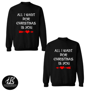 All I Want For Christmas Is You Sweatshirts, Ugly Christmas Sweater, Couples Sweater, Christmas Sweater, Christams Jumper, Christmas Pajamas
