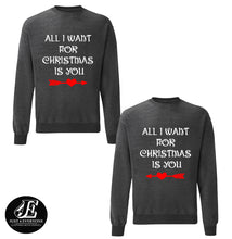 Load image into Gallery viewer, All I Want For Christmas Is You Sweatshirts, Ugly Christmas Sweater, Couples Sweater, Christmas Sweater, Christams Jumper, Christmas Pajamas