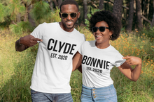 Load image into Gallery viewer, Bonnie and Clyde, Couples Shirts, Matching Shirts, Couple Outfits, Matching Couple Set, Bonnie Clyde Shirts, Custom Shirt, Custom Date