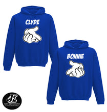 Load image into Gallery viewer, Bonnie Clyde Hoodies, Couples Hoodie, Matching Couple Outfit, Couple Sweaters, Matching Sweaters, Bonnie And Clyde Pullover, Valentine's Day