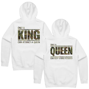 King Queen Hoodies, King and Queen , Couples Hoodies, King Queen Set Sweater, Couple Hoodies, Matching Hoodies, Mr and Mrs Sweatshirts