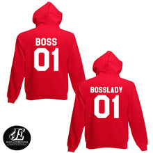 Load image into Gallery viewer, Boss Boss Lady Hoodies, Couple Hoodies, Couples Shirts, Matching Hoodies, Couple Sweater, Boss And Boss Lady, Boss Hoodie, Boss Lady 01