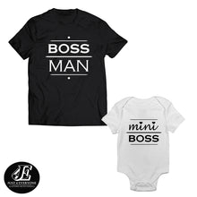 Load image into Gallery viewer, Boss Mini Boss Shirts, Matching Dad and Baby, Daddy and Me Shirts, Father's Day Gift, Family Shirt, Father's Day Shirt, Father's Day