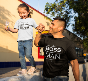 Boss Mini Boss Shirts, Matching Dad and Baby, Daddy and Me Shirts, Father's Day Gift, Family Shirt, Father's Day Shirt, Father's Day