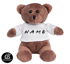 Personalized My 1st Teddy Bear, Personalized Name, Custom Name, Plush Teddy Bear 5 Inches