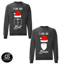 Load image into Gallery viewer, Christmas Couple Sweaters, Couples Winter Sweatshirts, Merry Christmas Pullover, Matching Couple Christmas Shirts, Christmas Jumper, Unisex