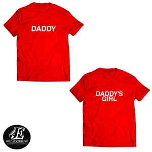 Daddy And Daddy's Girl Shirts, Matching Shirts, Couples Shirts, King And Queen, Valentine's Gift, Couple Tees, Wedding Gift, Couple T-shirts