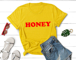 Honey Yellow Shirt, Honey Shirt, 80's Shirt, Honey Tee, Boho shirt, Honey T-shirt,Yellow Tops, Retro Be Kind, Be Kind Tees, Graphic Shirt