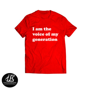 I Am The Voice Of My Generation Shirt, Feminist Shirt, Female Power Tee, Feminist Slogan Shirt, Girl Power Shirt, Womens March Shirt, Unisex