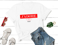 Load image into Gallery viewer, J'adore Shirt, J'adore T-shirt, J'adore France Paris Shirt, J'adore Love t-shirt, Fashion Tee, Tumblr Shirt, Best Gift, 100% Cotton