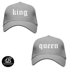 Load image into Gallery viewer, King and Queen, Couple Hats, His and Hers Couple Caps, Couple Gift, Matching Couples Crown