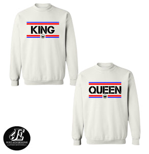 King Queen Sweatshirts, King Queen, Matching Sweatshirts, Couple Sweatshirts, King Queen Sweaters, King Queen Pullover, Matching Outfits