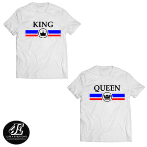 King Queen Shirts, King And Queen T-shirts, Couple Shirt, Couples Shirts, Matching Shirts, Matching Couples gift, Summer Shirts, Couple Tees