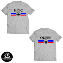 Load image into Gallery viewer, King Queen Shirts, King And Queen T-shirts, Couple Shirt, Couples Shirts, Matching Shirts, Matching Couples gift, Summer Shirts, Couple Tees