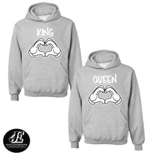 Load image into Gallery viewer, King Queen, King Queen Hoodies, Couple Hoodies, Couple Sweaters, Couple Hoodie, King Queen Hoodie