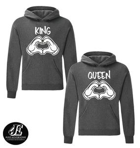 King Queen, King Queen Hoodies, Couple Hoodies, Couple Sweaters, Couple Hoodie, King Queen Hoodie