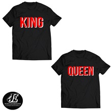 Load image into Gallery viewer, King Queen Tshirts, King and Queen T-shirts, Couples Shirts, King Queen Set Shirts, Matching Shirts