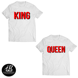 King Queen Tshirts, King and Queen T-shirts, Couples Shirts, King Queen Set Shirts, Matching Shirts