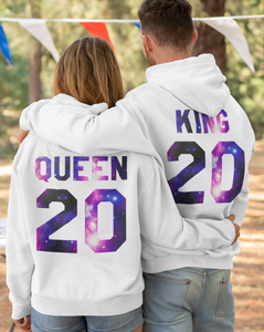 King Queen, King Queen Hoodies, Couple Hoodies, Couple Sweaters, Matching Hoodies, Pärchen Pullover, Couples Sweatshirts, King Queen Hoodies