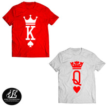 Load image into Gallery viewer, King and Queen Shirts, King Queen Shirts, Couple Shirts, Matching Shirts, Couples Shirts, King Queen Couples Shirts, King And Queen, Unisex