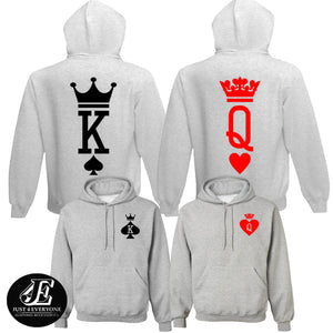 King Queen Hoodies, Set of King & Queen, Couples Sweatshirts, King Queen Sweaters, King Queen Hoodie, Couple Hoodies, Matching Couples
