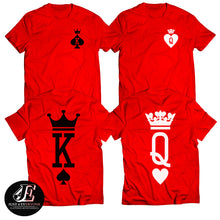Load image into Gallery viewer, King Queen Shirts, King and Queen T-shirts, King Queen Set Shirts, Couple Matching Shirts,