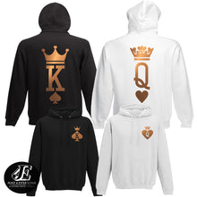 Load image into Gallery viewer, King Queen Hoodies, Set of King & Queen, Pärchen Pullover, Couples Sweatshirts, King Queen Sweaters
