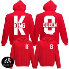 Load image into Gallery viewer, King Queen, King Queen Hoodies, Set of King & Queen, Pärchen Pullover, Couple Sweatshirts