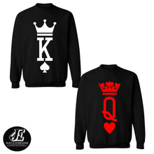Load image into Gallery viewer, King and Queen Crewnecks Couple set, King and Queen Sweaters Couple set
