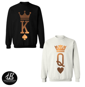 King and Queen Crewnecks Couple set, King and Queen Sweaters Couple set