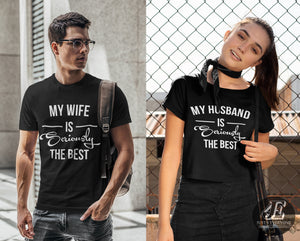 Wife Husband Shirts, Mr and Mrs, Just Married Shirt, Honeymoon Shirt, Wedding Shirt, Wife & Hubs Shirts, Just Married Shirts, Couples Shirts