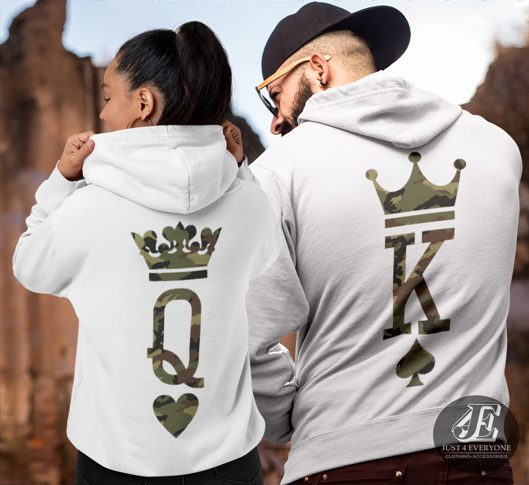 King Queen, King Queen Hoodies, Couple Hoodies, Couple Sweaters, Matching Hoodies, Pärchen Pullover