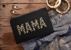 Mama Leopard, New Mum Gift, Makeup Bag, Cosmetic Bag, Leopard Print Makeup Bag, Mothers Day, Personalised Bags and Purses, Mother's Day Gift
