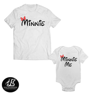 Minnie and Minnie Me Mommy Baby Shirts, Mommy And Me Shirts, Mother Daughter Matching, Minnie shirt
