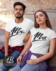 Mr and Mrs Shirts, Couples Shirts, Mr Mrs Shirt Set, His and Her Shirts, Honeymoon Shirts, Wedding Shirts, Mr Mrs T-shirts, Wife Hubs Shirts