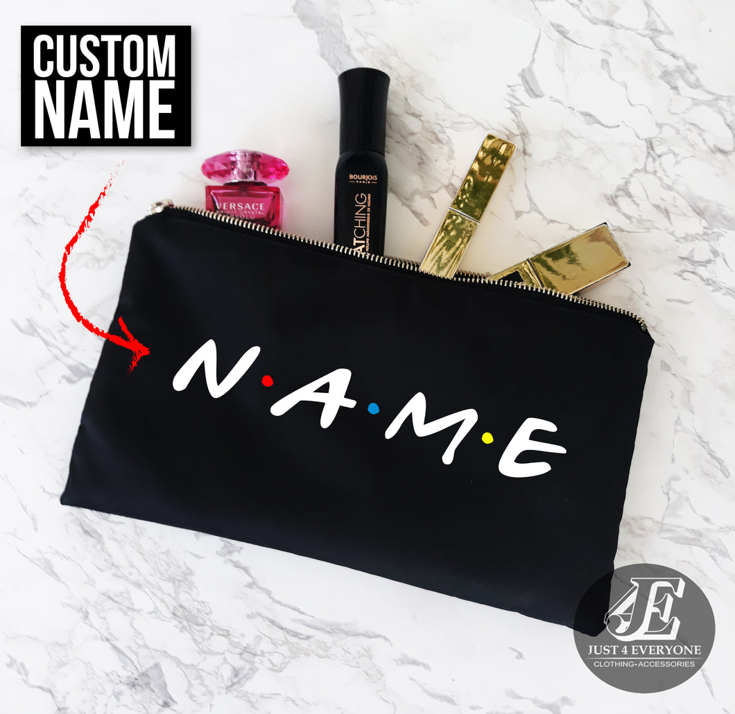 Personalized Makeup Bag, Friends TV Show Bag, Customized Friends Bag, Personalized Make Up Bag