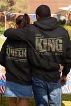 Load image into Gallery viewer, King Queen Hoodies, King and Queen , Couples Hoodies, King Queen Set Sweater, Couple Hoodies, Matching Hoodies, Mr and Mrs Sweatshirts