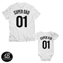 Load image into Gallery viewer, Father's Day Gift, Super Dad Super Kid, Father Son Matching Shirts, Dad Gift, , Father's Day, Father's Day Shirt, Family Shirts, Dad Gift