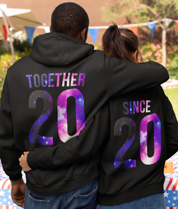 Together Since Hoodies, Together Since Sweatshirts, Couples Hoodies, Personalized Number, Matching Hoodies, Custom Number, Couple Hoodies