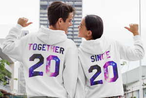 Together Since Galaxy Hoodies, Couples Hoodie, Couple Hoodies, Couple Hoodies, Together Since