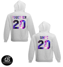 Load image into Gallery viewer, Together Since Galaxy Hoodies, Couples Hoodie, Couple Hoodies, Couple Hoodies, Together Since
