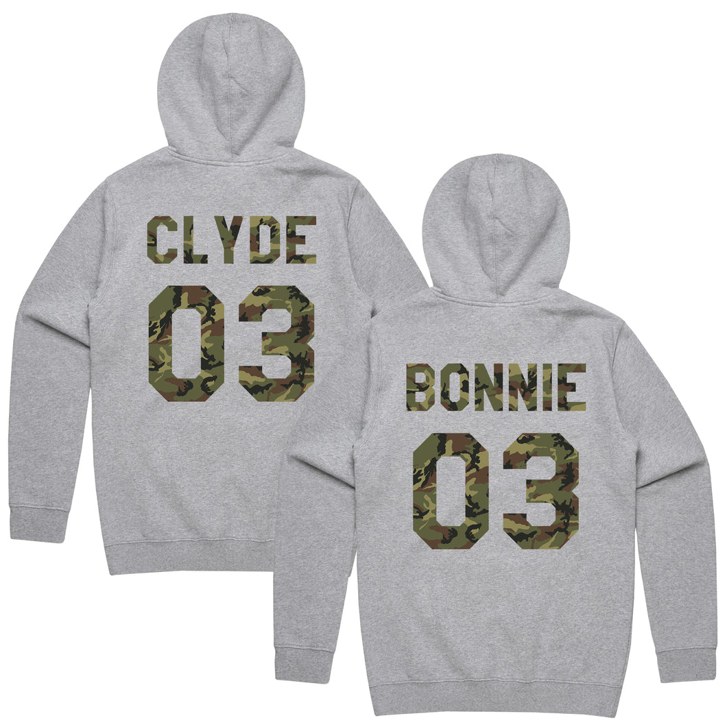 Bonnie Clyde Matching Sweaters, Bonnie And Clyde, Couples Hoodies, Bonnie and Clyde Pullover, Custom Hoodies with Custom Numbers