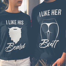 Load image into Gallery viewer, Couples Sweatshirts, Couples Sweaters, Couples Hoodies, Couple Matching, Couples Shirts, Mr And Mrs, Matching Outfits, Couple Clothing