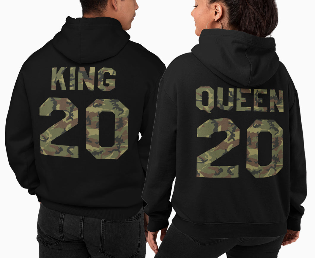 King and Queen Hoodie, King Queen Hoodie, King Queen Sweaters, Custom Numer, Couples Hoodie, Couple Sweaters, Custom Hoodie, King And Queen