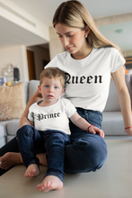 Load image into Gallery viewer, Queen Pince Shirts, Mommy and Me, Matching Shirt, Matching Mommy and Me Outfit, Pregnancy Tee,Mom and Son Shirts, Mom of Boys, Queen Prince